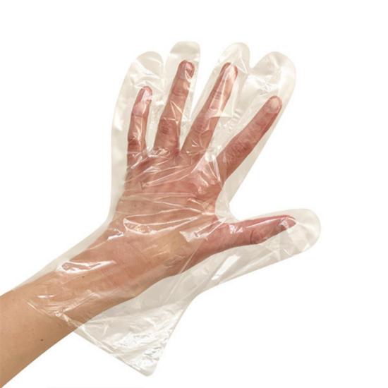 Eldobható műanyag kesztyű (100db/csomag)